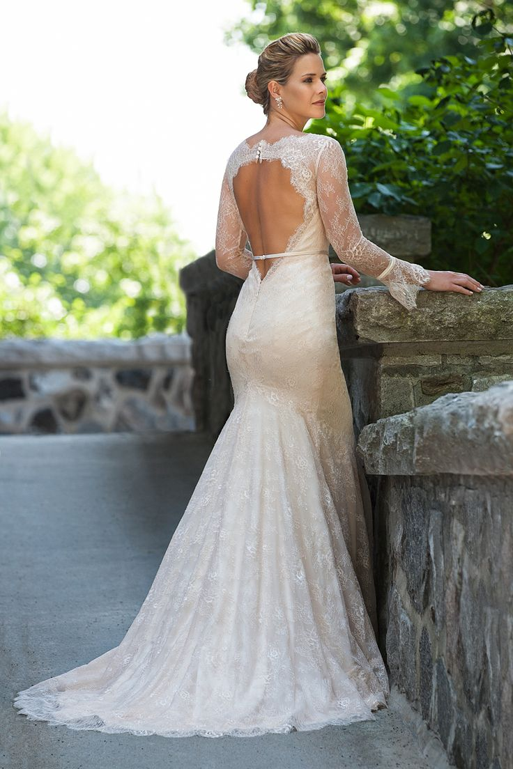 eddy k collection vintage inspired wedding dress Vintage inspired lace wedding gown openback