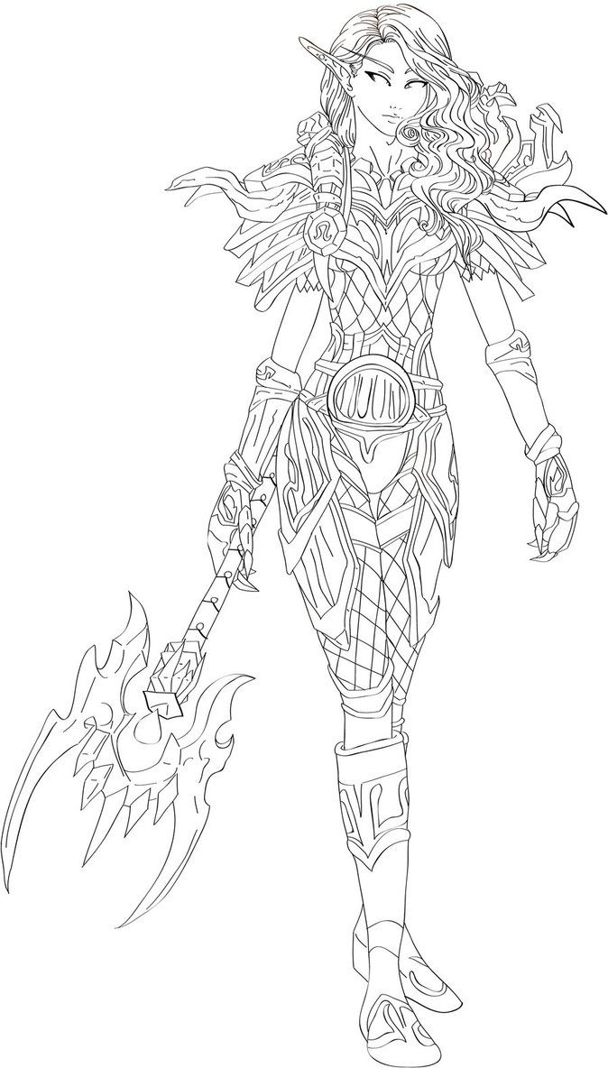Coloring Pages Blood Answers Wow Elves Elf Hunter By Dinaconcept Download