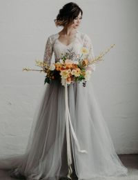 Gray Wedding Gown