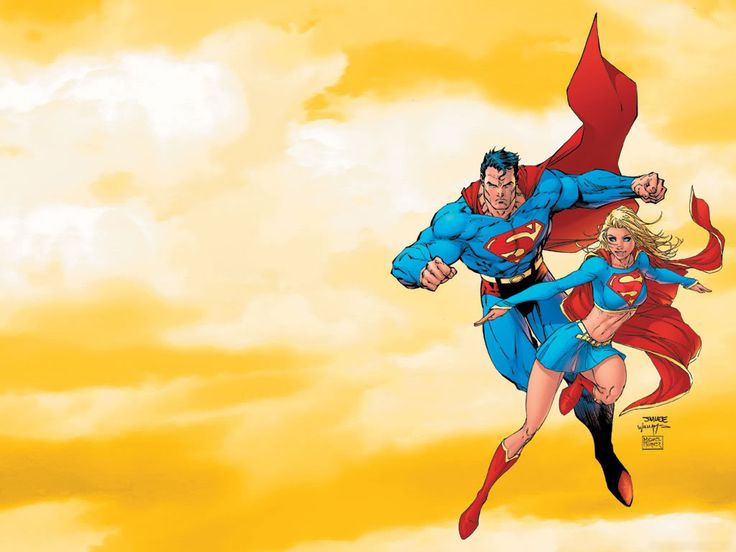 3d Superwoman Wallpaper Superman And Supergirl Wallpaper Background Wallpaper