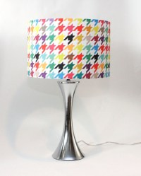 "Lamp Shade - 14"" Drum - Houndstooth - Bright and Colorful ..."