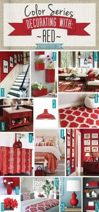 25+ best ideas about Red accents on Pinterest | Red decor ...