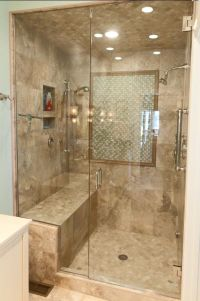 Check out this lovely tile shower we did. It has a nice ...