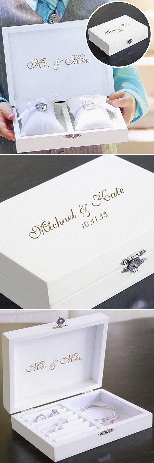 wedding rings keepsake wedding rings Personalized Ring Bearer Pillow Keepsake Box