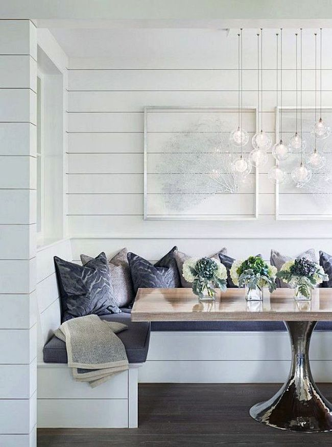 Fall Cottage Wallpaper Breakfast Nook With Shiplap Dining Rooms Pinterest