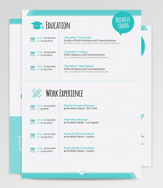 Free Downloadable Creative Resume Templates 1000 Images About Berenices Resume Template On Pinterest