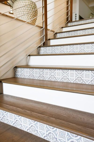 25+ Best Ideas about Tile On Stairs on Pinterest | Tile stairs, Wallpaper stairs and Wall ...