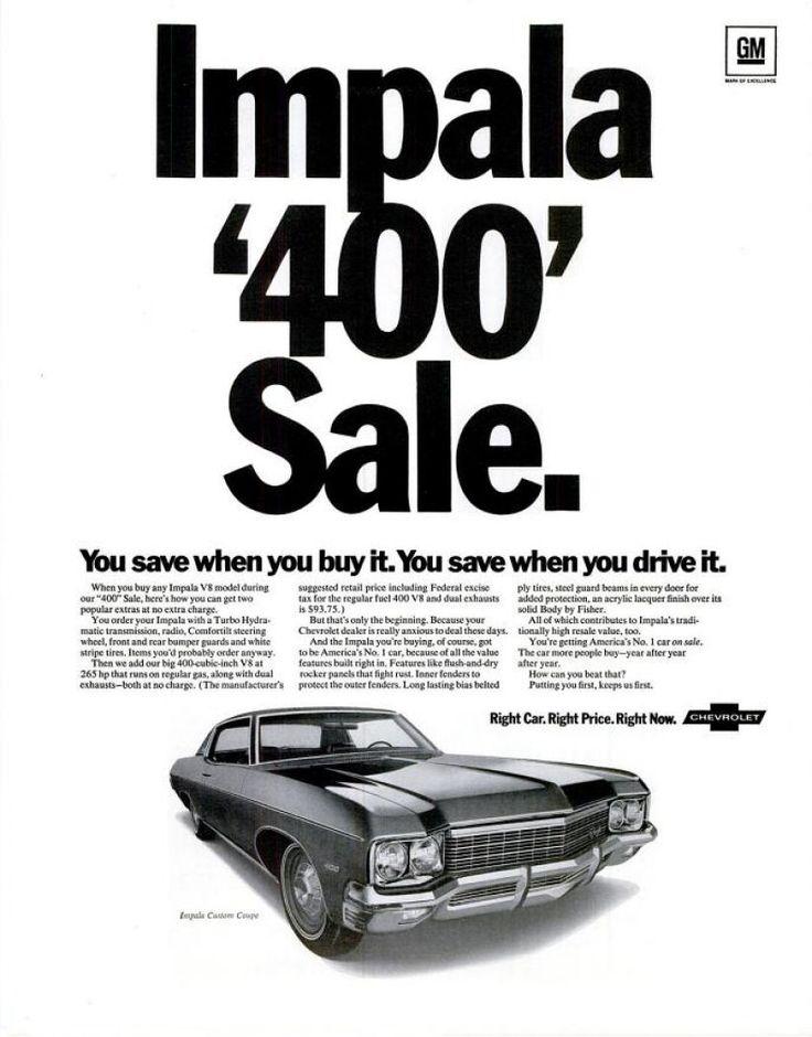 1968 chevrolet camaro ad