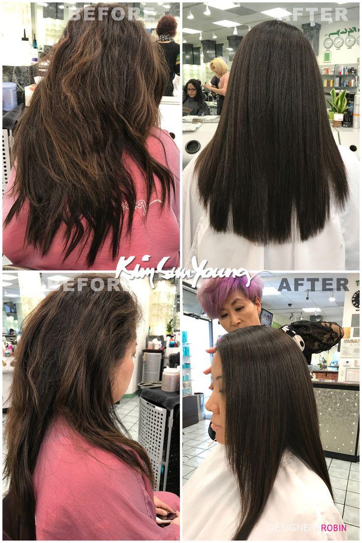 Magic straight perm by robin at ksy kim sun young beauty salon