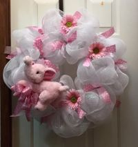 25+ best ideas about Baby Girl Wreaths on Pinterest | Baby ...
