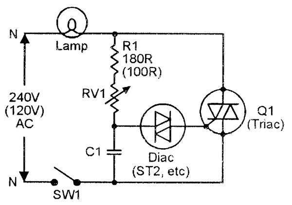 simple triac dimmer circuit schematics world