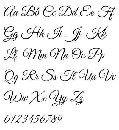 Great Vibes Typeface Alphabet by Rob Leuschke - Elegant ...