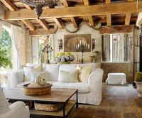 Tuscan Dream - Reclaimed wood ceiling beams, wrought-iron ...