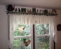 Pair of Small Black Iron Shelf/Curtain Rod Brackets ...