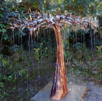 copper fountains outdoor | copper rain tree water ...