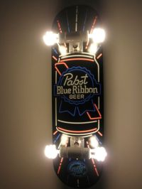 Custom Hanging Pabst Blue Ribbon Beer Skateboard Light ...