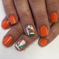Miami Hurricanes nail art design | Nail Art | Pinterest ...