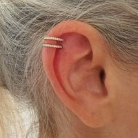 25+ best ideas about Double cartilage piercing on
