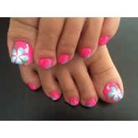 9 Sizzling Summer Pedicure Ideas | Flower power, Toe and ...