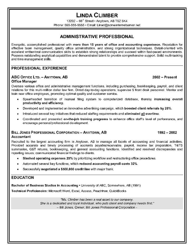 resume sample administrative assistant accomplishments