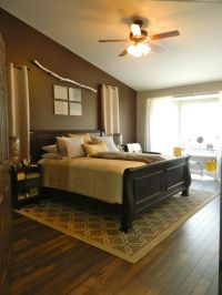 hardwood floors in the master bedroom// I like the area ...