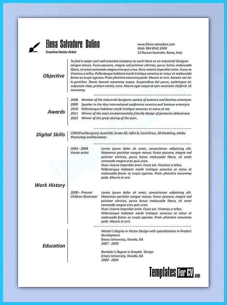 3d modeler resume example