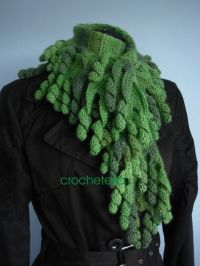 17 Best images about Crocheted Scarfs on Pinterest | Free ...