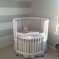 beautiful white round crib