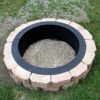 MAKE YOUR OWN STEEL FIRE PIT RIM IN GROUND LINER BUILD ...