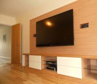 Good-looking Wood Wall Paneling Design With Wall Mounted ...