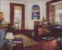 1931 Traditional Style Living Room - Armstrong Linoleum ...