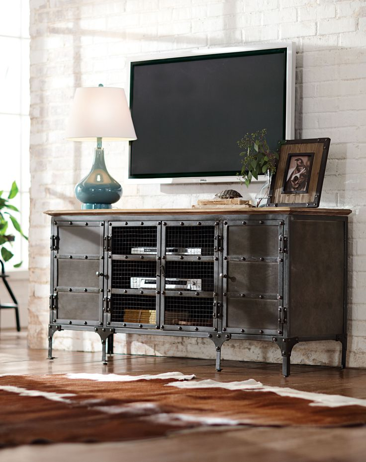 25+ best ideas about Industrial tv stand on Pinterest