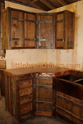 Barn Wood Kitchen Cabinet Doors 64 Best Images About Rustic Cabinets On Pinterest | Rustic