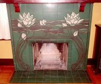 1902 - Rookwood Pottery - Tile Fireplace Surround ...