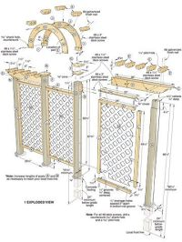 Wooden Arch Trellis Plans - WoodWorking Projects & Plans