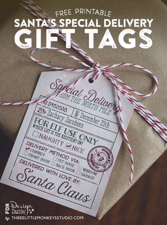 free printable editable christmas gift tags