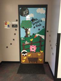 Charlotte's Web Door ~ kids and teacher are spiders | Fun ...
