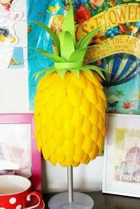 How wonderful is this super cute Pineapple Lamp DIY ...