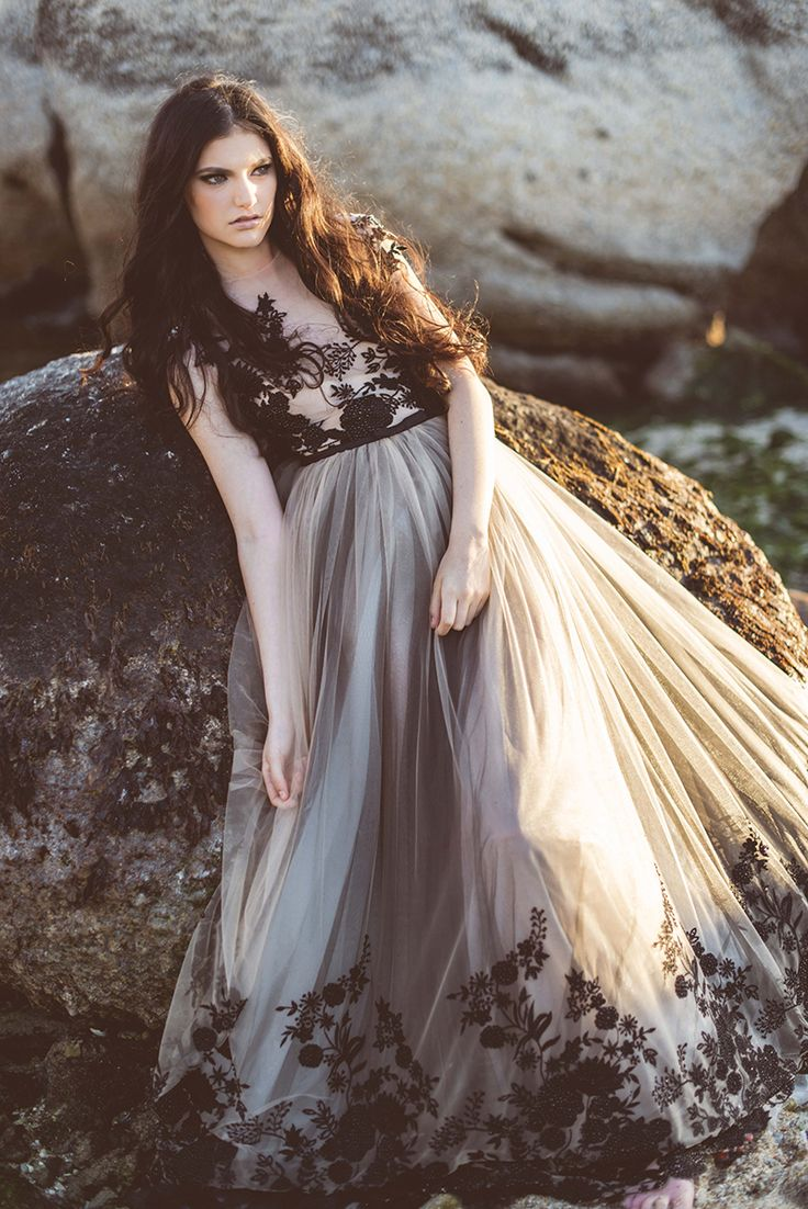 colourful wedding dresses nude wedding dress Nude Black Wedding Dress by Janita Toerien Wedding Gowns Dress style KEIRA Photo