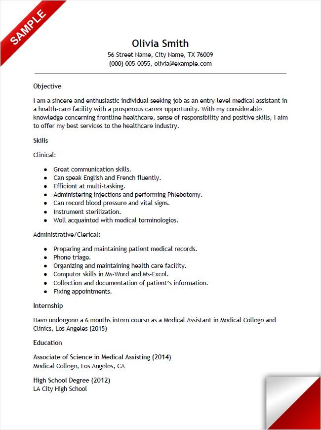 resume templates for doctors