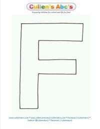letter F uppercase pattern/template. www.cullensabcs.com ...
