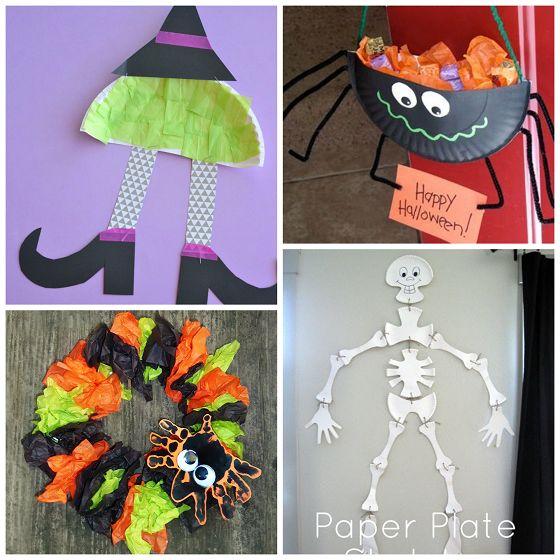 Paper Plate Halloween Crafts For Kids Crafts Halloween