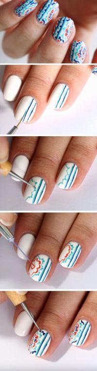 18 Easy Summer Nail Art for Short Nails | Blupla | Pepe