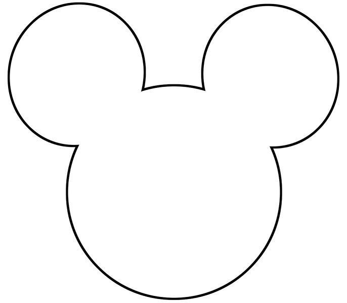 mickey mouse template printable