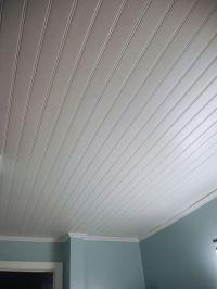 Vinyl beadboard ceiling in bathroom (CM Shaw Studios ...