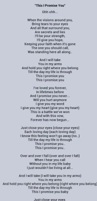This I Promise You ~ Nsync. I listen to this song almost ...