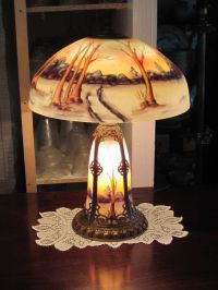 39 best images about reverse painted lamps on Pinterest