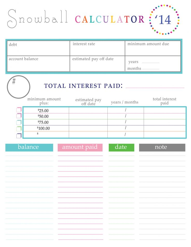 online debt snowball calculator