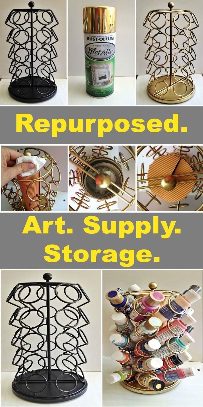 Craft supply storage containers - Arts And Crafts Storage Containers Keurig Cup Carousel Repurposed Art Supplies Storage Download
