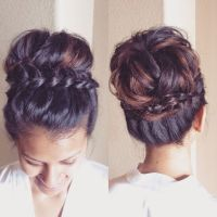 25+ best ideas about Braided updo on Pinterest | Easy ...